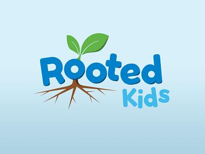 Rooted Kids logo concept kids logo kids concept logo design concept logo design logo