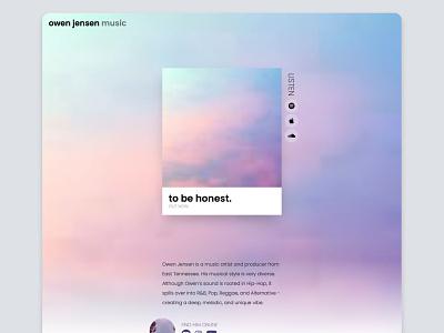Owen Jensen Music landing page landing page music website website design