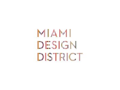 Miami Design District logo comp logo design logo