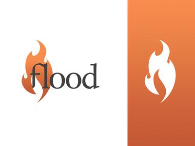 Flood logo branding logo design logo