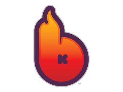 BlazeKill k icon identity gamertag fire branding b logo gamer