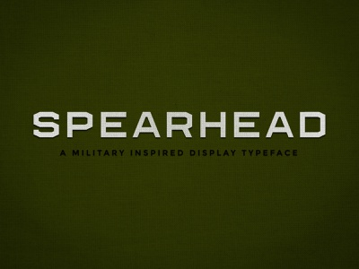 Spearhead Font fonts font design font family stencil military font