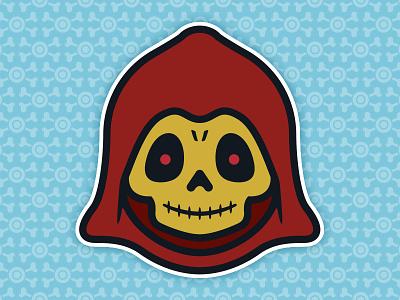 Little Skeletor: Toddler of Destruction - Blood Edition universe toys toddler the skull skeletor pop of masters illustration culture 80s