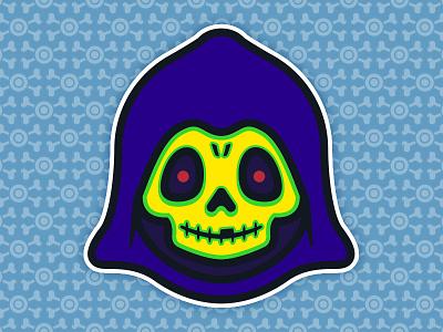 Little Skeletor: Toddler of Destruction - Robot Chicken Edition robot chicken masters universe toys toddler the skull skeletor pop illustration culture 80s