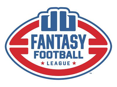 DB Fantasy Football League Logo throwback retro red blue mark league logo sports fantasy football