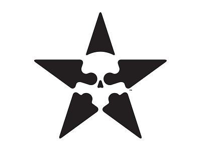 Star Skull v1 icon simple shapes mark logo skull star