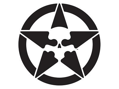 Star Skull v2 circle icon simple shapes mark logo skull star