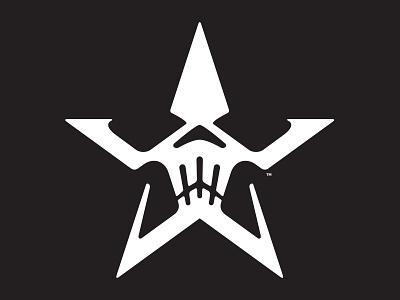 Star Skull v3 identity simple logo icon skull star