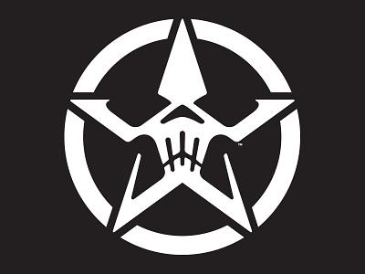 Star Skull v4 ring circle identity simple logo icon skull star