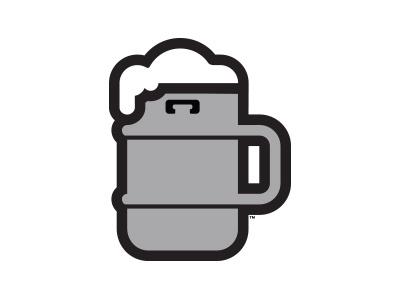 The Kug silver foam metal logo icon bar beverage beer mug keg