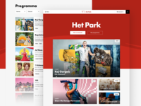 Het Park - Homepage page list web performance comedy art music theatre