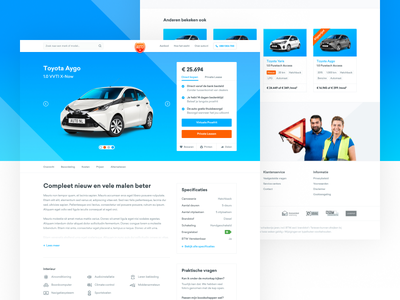 Auto.nl - Productpage responsive web webshop e-commerce detailpage productpage automotive car