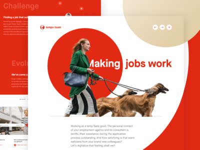 Tempo Team - Casestudy web case casestudy ui corporate hr search job