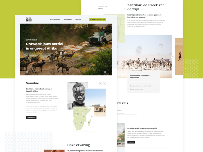 Africa Genius page agency detail pattern africa travel agency travel web