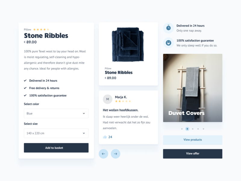 Van Morgen - Components elements card ecommerce ui bath bed components