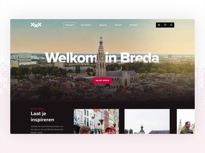 Citymarketing Breda - Homepage website builder homepage city guide landingpage design website marketing travel city