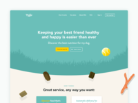 Milo - Landingpage web design landingpage website dog animal food