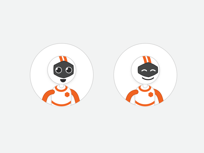 Onboarding Bot Concept avatar illustration