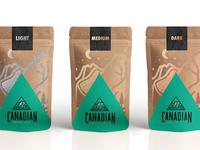 Canadian Coffee Club packaging design