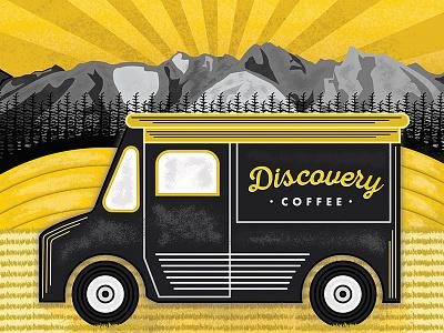 Discovery Coffee Illustration packaging design graphic design digital art vector art logo branding brand coffee illustrator illustration