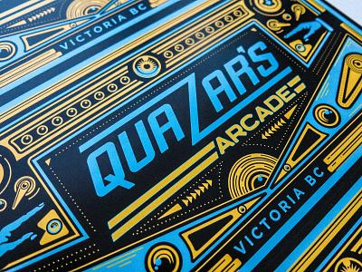 Quazar's Arcade identity design branding brand logo graphic design digital art illustrator illustration