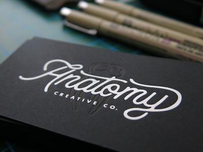 Anatomy Business Card design letterpress print businesscards illustrator typography branding brand logo graphic design