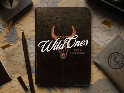 Wild Ones logo design identity design design vector graphic design illustrator illustration vintage typography branding brand logo