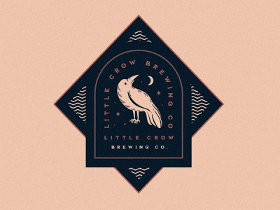 Little Crow Brewing Co. logo design brewery beer identity design badge illustration typography logo branding brand graphic design