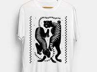 Two Tigers Tee vector art art graphic tee apparel graphics apparel mockup apparel design tshirt art tshirtdesign digital art illustrator illustration graphic design
