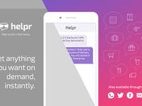 Helpr Landing Page