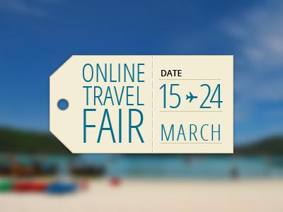 Online travel fair dribbble