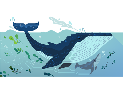 💦💦Mama Whale 💦💦 vector sea ocean mothers day mom mama uber whale