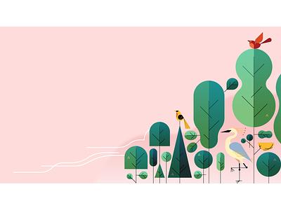 🐦 Birds 🐦 nest robin crane forest trees birds vector marketing uber