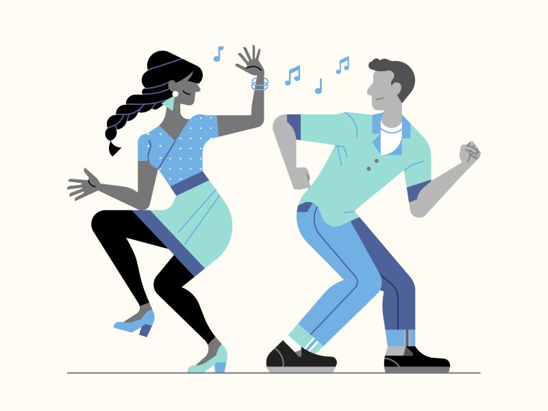 твист танец картинка для