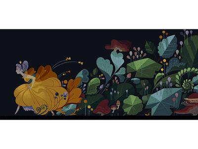 Through the Woods night run princess woods forest flowers storybook cinderella