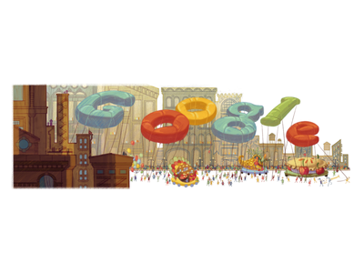 Doodle for Thanksgiving nyc ny floats parade thanksgiving tbt doodle google doodle google