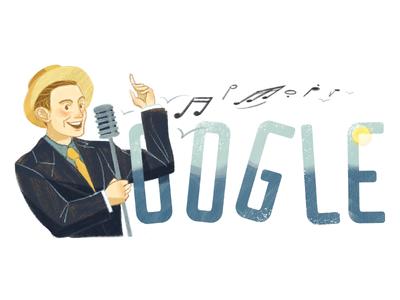 Doodle for Charles Trenet singer musician the sea charles trenet logo google doodle doodle google