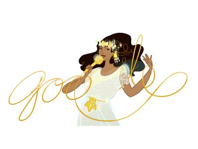 Doodle for Ofra Haza woman singer ofra haza logo google doodle doodle google