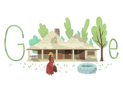 Doodle for Stella Maria Sarah Miles Franklin forest house girl franklin logo google doodle doodle google