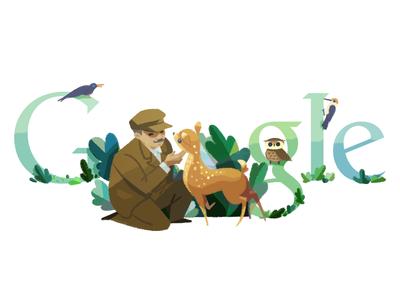 Doodle for Tadas Ivanauskas birds nature deer ivanauskas logo google doodle doodle google