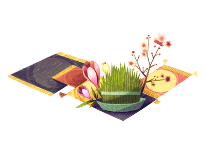 Doodle for Persian New Year flowers grass new year persian new year logo google doodle doodle google