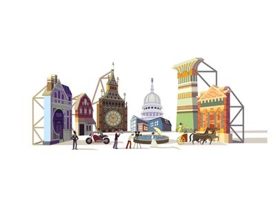 Doodle for Cinecitta movie set movie cinecitta logo google doodle doodle google