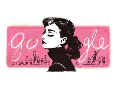 Doodle for Audrey Hepburn
