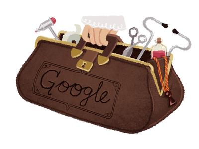 Doodle forDraginja Ljočić Milošević medicine doctor medical logo google doodle doodle google