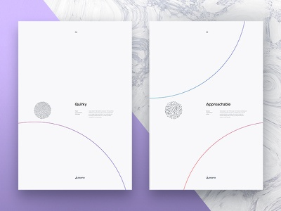 Quirky & Approachable — Posters minimal posters layout circle brand asana