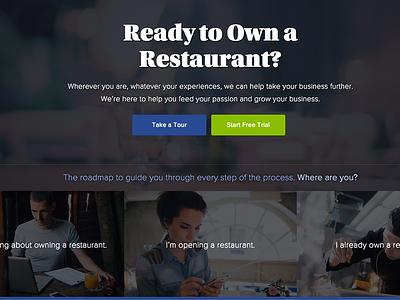 Homepage Concept for Restaurant Owner Resource Website restaurant ui web bootstrap website