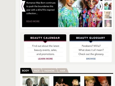 ThePlasticDiaries.com Homepage beauty bootstrap ui blog website