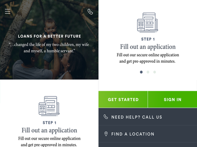Mobile Loan Application account design ui application loan finance mobile