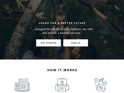 Loan Application Website account design ui application loan finance