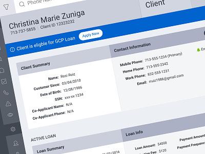 Client Management UI dashboard ux design ui crm admin
